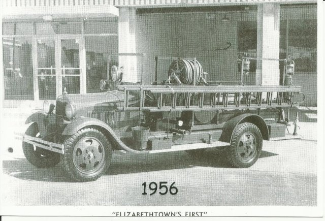 Elizabethtown First Fire Truck Engine in 1956