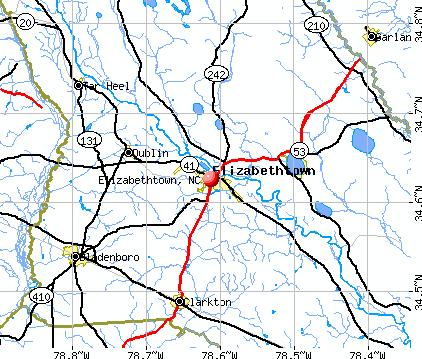 Elizabethtown-map